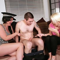 Cfnm oral action and titjob
