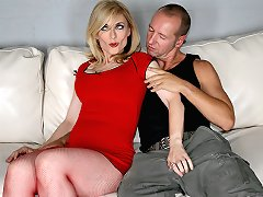 Nina Hartley meets up with guy to fuck his big cock