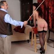 Milf getting paddled and caned