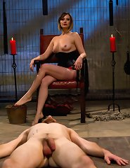 Maitresse Madeline turns out three newbie pieces of meat with CBT, CFNM humiliation, strap-on ass fucking, ass worship and tease and denial!
