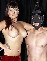 An Amazon Mistress disciplines her slave