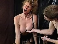 Housewife gets her tits tortured