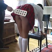 Two schoolgirls paddled