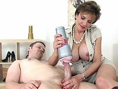 Handjob with fleshlight