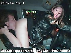 Ass licking in the car