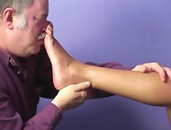 Sole sniffing and kissing