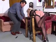 Husband was caning bad wife