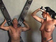 Zarah and Jana facesitting on slave