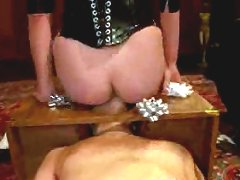 Maitresse gives one of her world famous teasing handjobs edging slave over and over again until he blows his load without her even touching his cock!