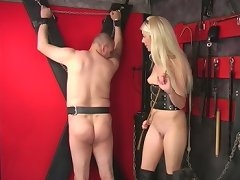 Cute Slim Petite Mistress Charlotte Has Fun With Her Naked Slave!