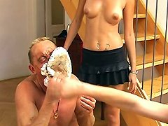 Slave gets humiliated and spanked