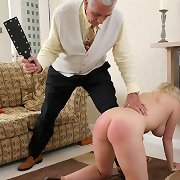 Busty Brunette gets hard spanked