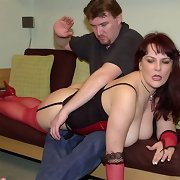 Mature wife gets hand spanked