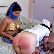 Nurse gets spanked otk hard