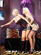Blonde lesbian slave was tied