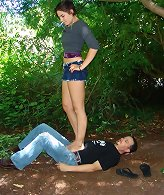 Husband trampled outdoor