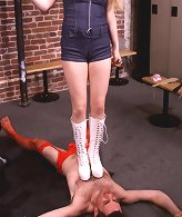 Spanking and foot domination