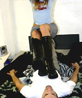 Man was dominated by big boots