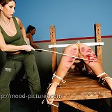 Slave was tied and spanked