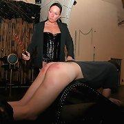 Stunning vixen bitch punishes poor guy in the cellar