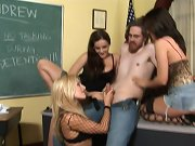 Dominant chicks are humiliating a teacher
