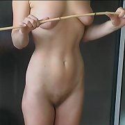 Caning of blonde schoolgirl