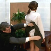 The professor punished bad schoolgirl