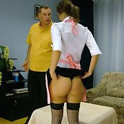 Caning of young maid