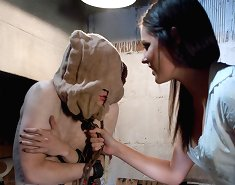 Smoking hot girl next door turns psycho bitch and keeps slaveboys locked away in a basement then uses them as her fuck toy!