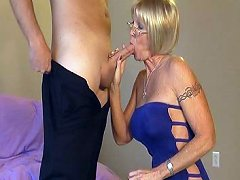 Granny Honey Ray stops by to measure Johnny for ..