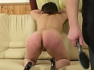 Spanked by hairbrush