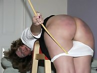 Mature wife was spanked