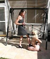 Slaveslut was humiliated outdoor