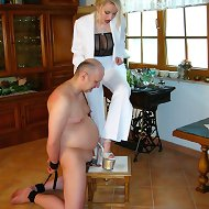 Submissive male was punished by home and outdoor
