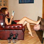 Big girl humiliate a domestic slave