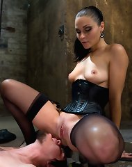 Wild female domination and brutal facesitting are here