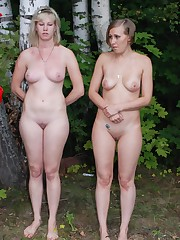 2 Russian beauties punished nearly the woods