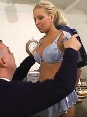 Blonde secretary punished forth office