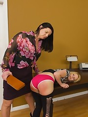 Two girls take turns spanking each other