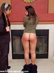 Abigail Whittaker's impudent bottom gets 50 with a leather paddle for invade