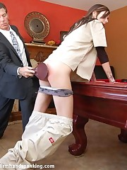 Hot blonde order of the day girl Adrienne Black paddled after disappearing for a week