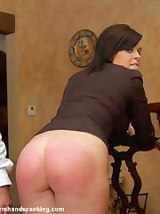 256-smack spanking: tough background for cadet Leia-Ann Woods