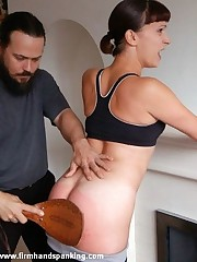 Fulminate butt Allaura Shane paddled increased by spanked for trashing Alison's accommodation billet