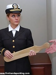 Tears be required of hottie Kelly Morgan as A pulling cadet is paddled be required of insubordination