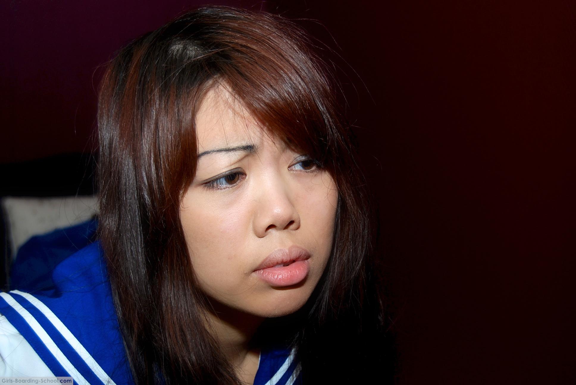 Asian girl punished