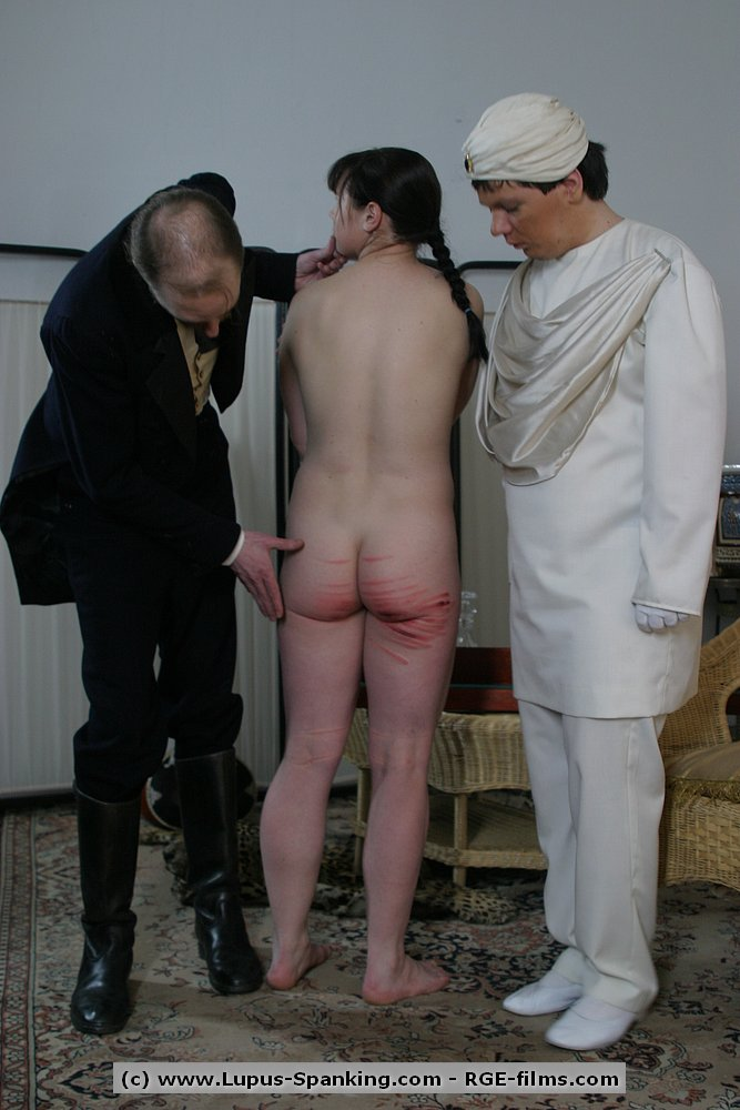 lupus spanking   someone s skin butcher s daughter caned spanking slave