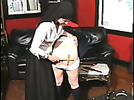 Naughty lassie potentiality over Desk further Paddled