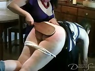 Lecherous broad gets brutish whips on her fannies