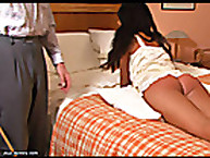 Caned On her nice buttocks