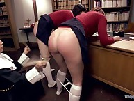 Hard ass spanking with angry mistress
